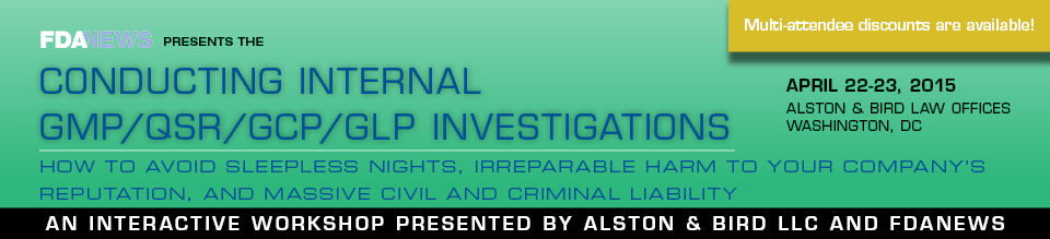 Conducting Internal GMP/QSR/GCP/GLP Investigations