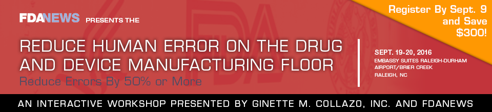 Reduce Human Error on the Drug and Device Manufacturing Floor