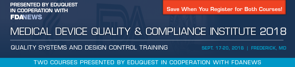 Medical Device Quality & Compliance Institute 2018