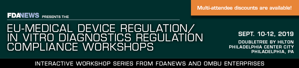 EU-Medical Device Regulation/In Vitro Diagnostics Regulation Compliance Workshops